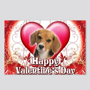 Happy Valentines Day Beag Postcards (Package of 8)