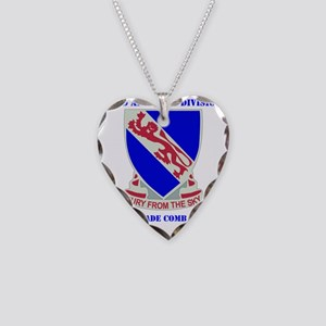 DUI- 892ND AIRBORNE-4BCT WITH Necklace Heart Charm