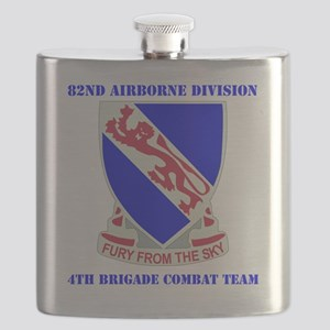DUI- 892ND AIRBORNE-4BCT WITH TEXT Flask