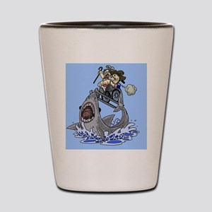 Jumo the Shark Blue Shot Glass