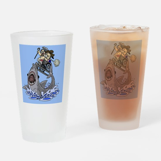 Jumo the Shark Blue Drinking Glass