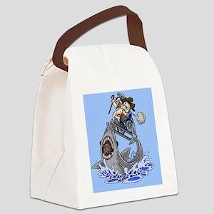 Jumo the Shark Blue Canvas Lunch Bag