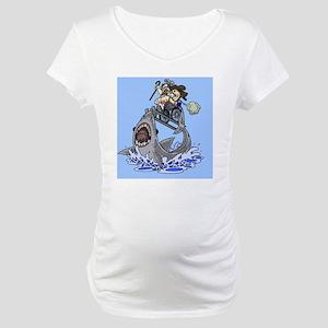 Jumo the Shark Blue Maternity T-Shirt