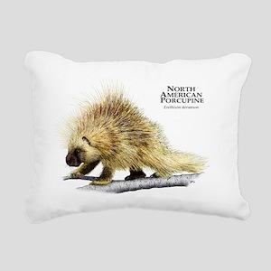 North American Porcupine Rectangular Canvas Pillow