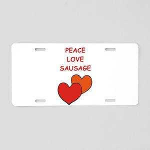 sausage Aluminum License Plate