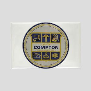 Compton CA City Seal Rectangle Magnet
