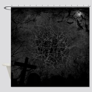 graveyard, graves BW Shower Curtain