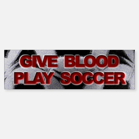Blood Soccer Sticker (Bumper)