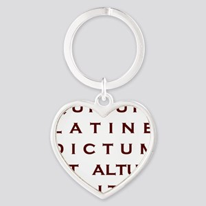 Anything sounds profound in Latin Heart Keychain