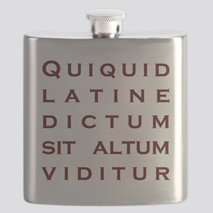 Anything sounds profound in Latin Flask