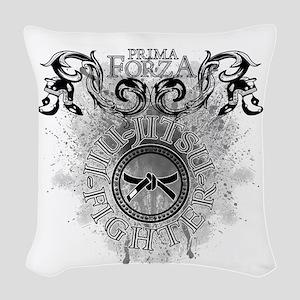 Combat_Sports_JiuJitsu Woven Throw Pillow