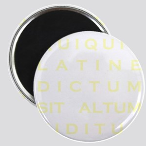 Anything sounds profound in Latin - Parchme Magnet