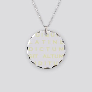 Anything sounds profound in  Necklace Circle Charm