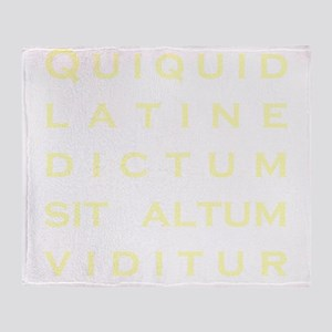 Anything sounds profound in Latin -  Throw Blanket