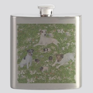 PUPPY PLAYTIME IN THE PARK BLANKET Flask