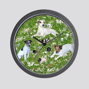 PUPPY PLAYTIME IN THE PARK BLANKET Wall Clock