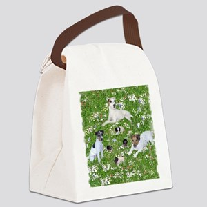 PUPPY PLAYTIME IN THE PARK BLANKE Canvas Lunch Bag