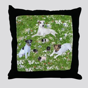 PUPPY PLAYTIME IN THE PARK BLANKET Throw Pillow