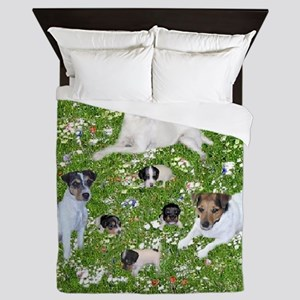 PUPPY PLAYTIME IN THE PARK BLANKET Queen Duvet