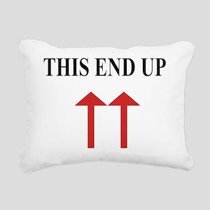 thisendup Rectangular Canvas Pillow