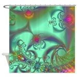 Jeweled Staircase, Kaleidoscope Shower Curtain