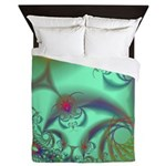 Jeweled Staircase, Kaleidoscope Queen Duvet