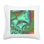 Jeweled Staircase Abstract Square Canvas Pillow