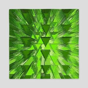 explosion green Queen Duvet