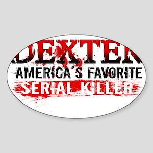 Favorite Serial Killer Hat Sticker (Oval)