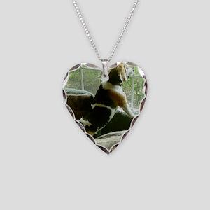 Window gazing Necklace Heart Charm