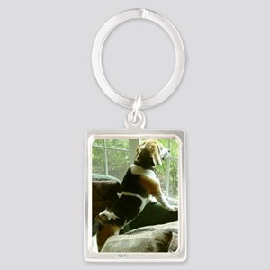 Window gazing Portrait Keychain