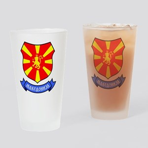 Macedonia Lion Crest Crown Badge Drinking Glass