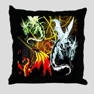 Dragons - Inner Rage Throw Pillow