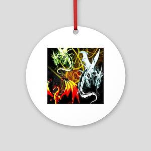 Dragons - Inner Rage Round Ornament