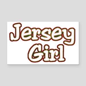 2-jersey girlD Rectangle Car Magnet