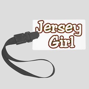 2-jersey girlD Large Luggage Tag
