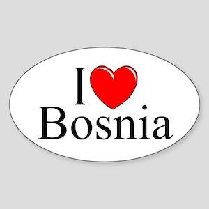 """I Love Bosnia"" Oval Sticker"