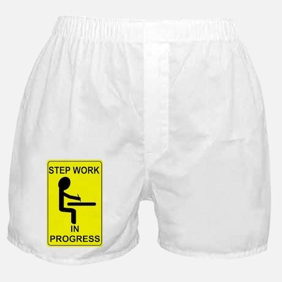 StepWorkInProgressSmallPoster Boxer Shorts
