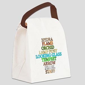 Dharma Stations 3 white dharma lo Canvas Lunch Bag