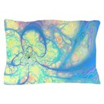 Blue Angel Abstract Fractal Pillow Case