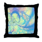 Blue Angel Abstract Fractal Throw Pillow