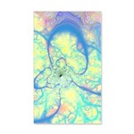 Blue Angel Abstract Fractal 20x12 Wall Decal