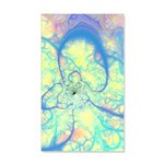 Blue Angel Abstract Fractal 35x21 Wall Decal