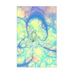 Blue Angel Abstract Fractal Mini Poster Print