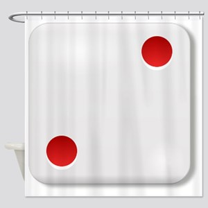 2 Dice Roll Shower Curtain
