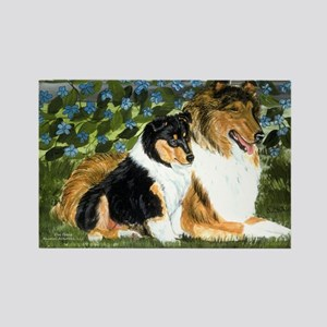 Rough Collie Mom Rectangle Magnet
