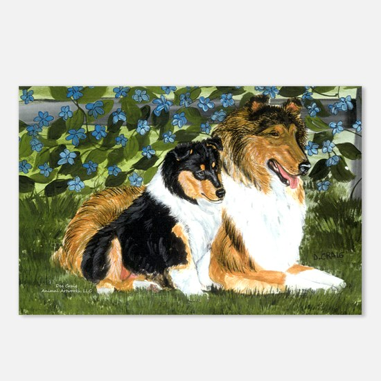 Rough Collie Mom Postcards (Package of 8)