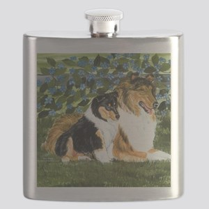 Rough Collie Mom Flask