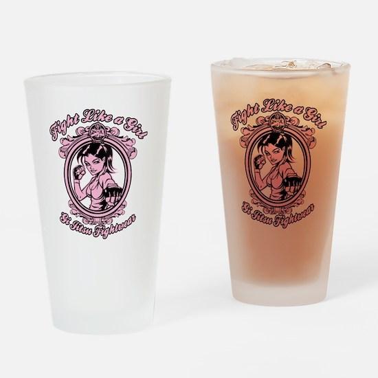 bjj fighter(girl) Drinking Glass