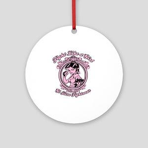 bjj fighter(girl) Round Ornament
